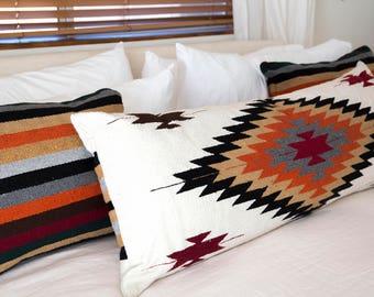 Joshua Tree Tribal Style Diamond Pillow Cover