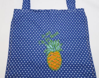 Tote Bag, sack race in jeans