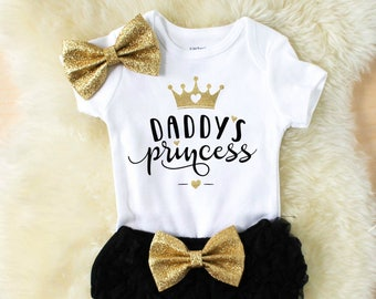 baby girl clothes - daddys girl shirt - baby girl outfits - fathers day outfit - daddys princess - girl clothes - new baby gift - baby showe