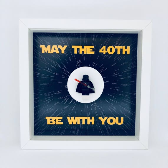 Star Wars 40th Birthday Frame, Mum, Gift, Geek, Box Frame, Friends, Dad, Idea, Birthday, Anniversary, Wedding, For Her, For Him, Friends