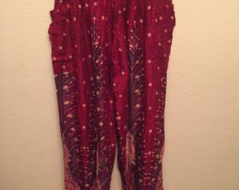 Feather rayon pants
