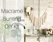 Macrame Bunting DIY Kit for Beginners | Macrame Pattern Tutorial Kit for Wall Hanging | Macrame DIY | Macrame How-To | Macrame Wall Hanging