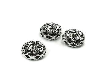 Pearl Silver 925 carved AC0282BK PK067