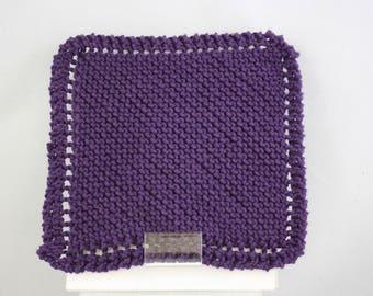 dishcloths, cotton dishcloths, hand knit dishcloths, knit dishcloths, purple dishcloths, washcloths, hand knit washcloths, knit washcloths