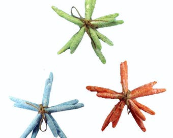 Resin Large Colored Starfish tied in a bundle decor (Set of 3)  (EA)
