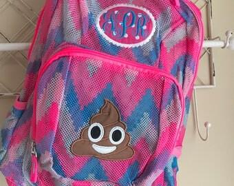Monograackpack | Mesh Backpack | Emoji Backpack | Girls Backpack | Horse Backpack | Book Bag | Smiley Backpack | School Bag | Emojis