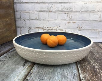 Made to order large fruit bowl, wheel thrown fruit bowl, large serving dish