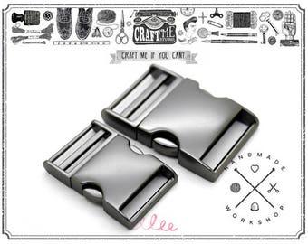 MATTE Black Curved Side Release Buckle for Paracord Webbing Bags Belts Locks Fanny Packs Bracelets Collar 1 pc - Premium Quality