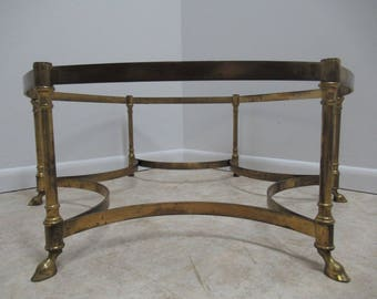 Vintage French Regency Brass 6 Leg Hoof Foot Coffee Table Base C