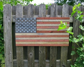 Rustic American Flag / Independence Day