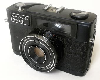 Chinon 35 EE with New Light Seals. Ready-To-Use Vintage 1970s Rangefinder Camera with Limited Function