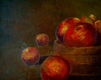 An Apple a day fruits still life oil painting