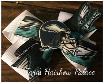 Philadelphia Eagles Hair Bow / Clip