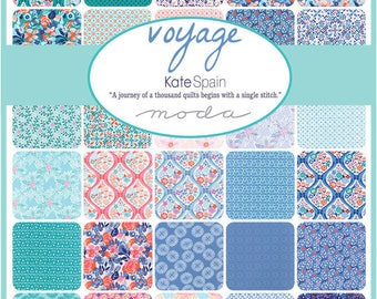 "VOYAGE - 5"" Charm Pack by Kate Spain for Moda Fabrics - (42) 5"" x 5"" Squares - 27280PP"