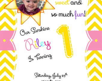 Bright Sunshine Birthday Invitation