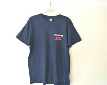 Vintage 1970's JVC VHS Navy 50/50 T-shirt