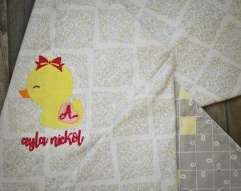 Rubber Ducky Baby Receiving Blanket