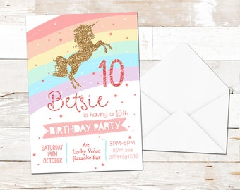 childrens personalised party invitations