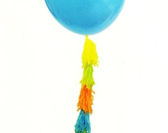 50% OFF Large Balloon with Tassels, 36 Inch Balloon, Tassel Balloon, Birthday Balloon, Baby Shower Balloon