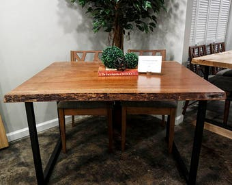 50% Deposit African Mahogany Live Edge Dining Table for Michelle