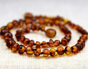 Amber teething necklace. Baltic amber. Baltic amber teething necklace. Amber necklace. Baltic amber necklace. Amber. Baby amber necklace