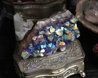 Amethyst Aura - crystal cluster