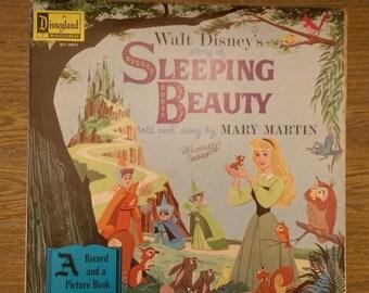 "SaleofSummer Walt Disney's Story of Sleeping Beauty 1958 LP Double-Sided 12"" Vinyl Disneyland Records Records ST-3911 Mary Martin"