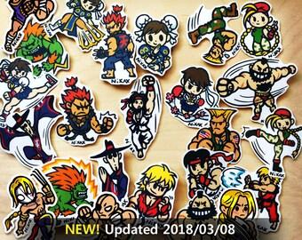 Street fighter_fan art_ stickers or brooch/pin
