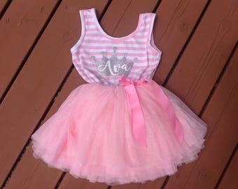 Pink Personalized Princess Dress