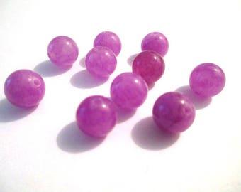 10 pearls 8mm purple natural jade (38)