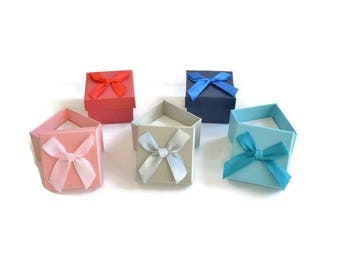 5 boxes box for rings mix color 37mm