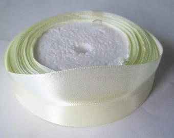 1 reel 22 m clear 20mm yellow satin ribbon