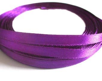 23 m purple 6mm satin ribbon in reel