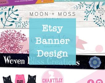 Etsy Banner - Digital Banner Design - Etsy Digital Banner File - Etsy Cover Photo - Branding - Etsy Shop Branding - Custom Etsy Banner