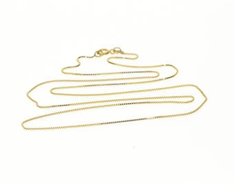 """14k 1.5mm Rolling Cable Link Chain Necklace Gold 23.75"""""""