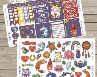 SALE | 75% OFF | Lucky Lucky Cute Planner Stickers
