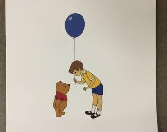 Winnie The Pooh Print 8x10