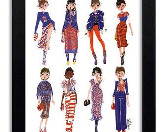 Marc Jacobs - Fashion Illustration Print Fashion Print Fashion Art Fashion Wall Art Fashion Poster Fashion Sketch Art Print