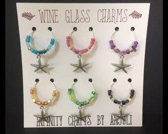 Wine Glass Charms -- Dragonflies