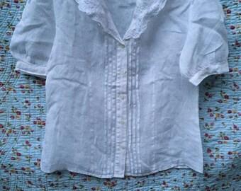 Laura Ashley blouse 1980s