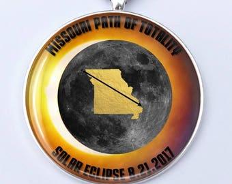 "Missouri Path of Totality St Joseph Total Solar Eclipse 2017 Ornament - 2"" Solar Eclipse Souvenir Christmas - Car Rear View Mirror Ornament"