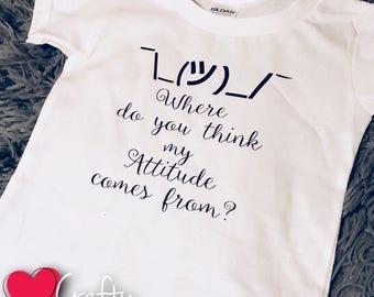 Attitude toddler tee/toddlers with attitude/kids with attitude/kids attitude tee/baby attitude