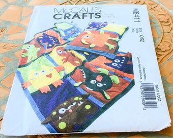 McCall's M6411 6411 Monster Quilt Pillowcase  Sewing Pattern  Wall Hanging Decor Body Eyes Teeth Blocks  Nursery Play Family  Room  Uncut FF