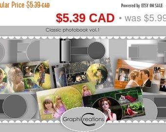 ON SALE sale Classic photobook vol.1/psd files/templates