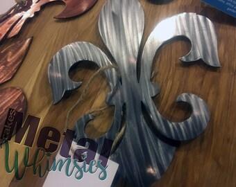 4, 8, or 12 inch *Fluer De Lis*  Metal Wall Art Multiple Styles