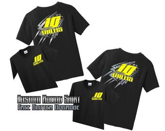 Dirt track racing etsy for Racing t shirts custom