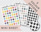 PAW PRINT MINISHEET - Functional Stickers - Planner Stickers Matt