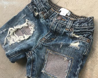 18-24m Toddler Boy Custom Denim Shorts