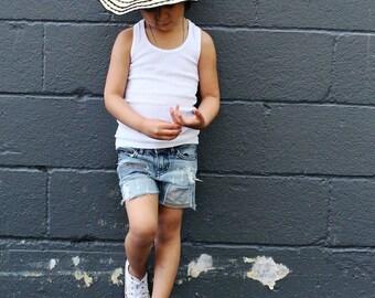 4T Toddler Girl Custom Denim Shorts