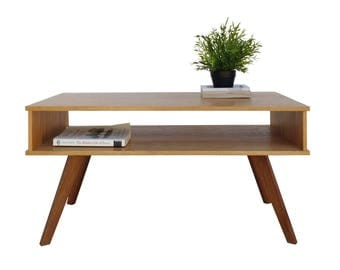Wood coffee table - modern - coffee table - rectangle - reclaimed timber
